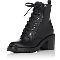FSJ Women Round Toe Ankle Booties Heels Lace Up Military Combat Shoes... ($53) ❤ liked on Polyvore featuring shoes, boots, ankle booties, military boots, wide width booties, lace up boots, side zip boots and lace up booties