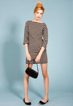 Built by Wendy French stripe boatneck minidress