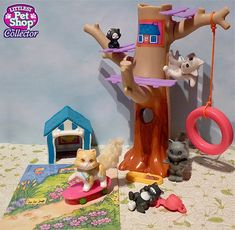 1995 Clubhouse Kitties Pet Shop Collection Pup 'n Kitty Clubs Assortment