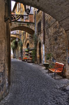Orvieto, Italy. Love strolling the streets here. Oh, and their Orvieto Classico wine is wonderful!
