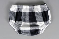Boys diaper cover buffalo check black and white nappy cover- Little Lukey on Etsy, $28.00
