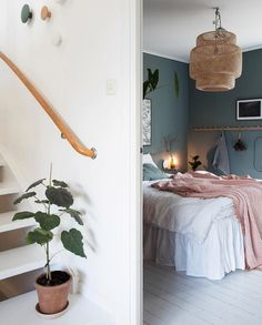 Home Interior Inspiration my scandinavian home: Green and Pink Accents in a Beautiful Swedish Family Home Bedroom Green, Home Bedroom, Bedroom Decor, Bedrooms, Home Design, Interior Design, Scandinavian Home, Home Decor Inspiration, Decor Ideas