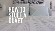 The easiest way to stuff a duvet. Ever. via @PureWow
