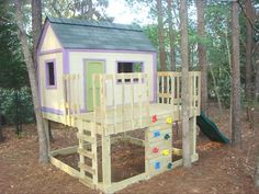 Kid's Playhouse and Slide. Build it yourself.