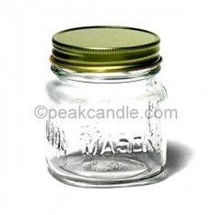 square mason jars with a variety of lid options - 8 oz. $10.68/dozen