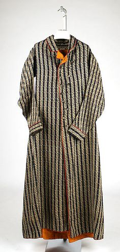 Dressing gown Date: first quarter 19th century Culture: British Medium: wool Dimensions: Length at CB: 61 1/2 in. (156.2 cm)