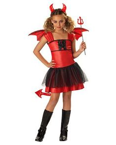 Kids Devil Darling Costume | Wholesale Devils Halloween Costume for Girls