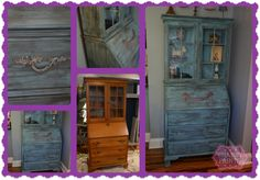 Shabby Paints...Dynasty Blue Chalked Paint and black reVAX