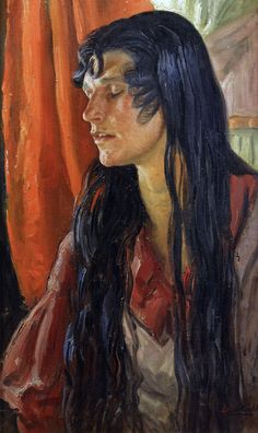 Dame Laura Knight - A Young Gypsy woman