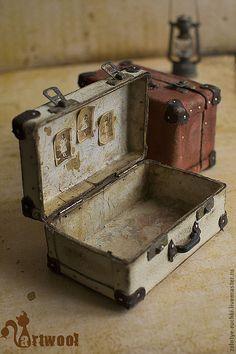 """Купить Чемодан """"Vintage"""" (белый) - белый, чемодан, чемоданчик, винтажный стиль…"""