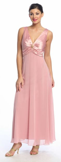 Dusty Rose Mother of the Bride/Groom Dress Bolero Wedding Dress Gown $44.99