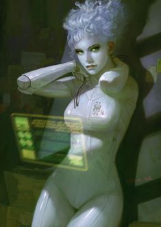 Love the character here, but I'm pinning for the computer - sort of how I imagine Zoe's computer!  Cyberwhite by *Hellstern on deviantART