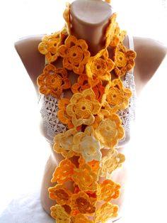 lariat bufanda del ganchillo bufanda del por crochets4world en Etsy
