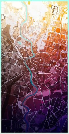 AUTONE - Urban planner who makes his maps look like art pieces