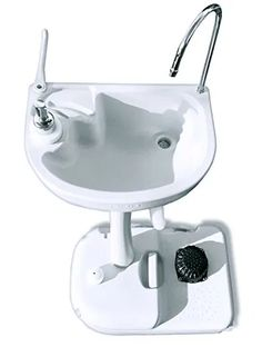 The Portable Outdoor White Basin Wash Sink with Water Capacity, Rolling Wheels: Features: Quick Assemble Design for On-Site Setup Simple & Hassle-Free O Romantic Home Decor, Hippie Home Decor, Natural Home Decor, Pop Up Camping Tent, Outdoor Sinks, Wash Stand, Target Home Decor, Sink Design, Home Decor Paintings