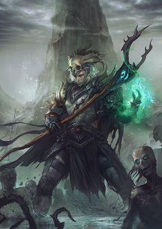 Elfe noir (Drow) ♂ - Nécromancien: