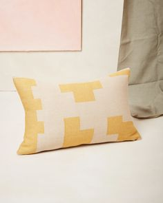 Puzzle Lumbar Pillow Lemon | Pillows | MINNA