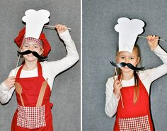 "Mother Duck Said: ""Lets Party!"": Master Chef Photo Booth Props / Cooking Party Photo Booth Props"