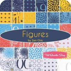 Figures by Zen Chic - Fat Quarter Shop // I have an idea for this...