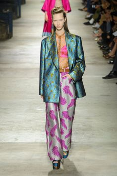 The Dries Van Noten baroque tapestries signaled a cool new uniform for the woman with a big personality and a wardrobe to match.