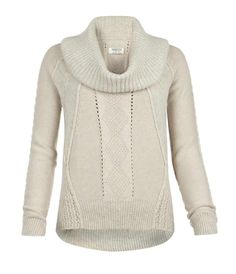 Allsaints Spitafields (www.us.allsaints.com), an international apparel company, has the Repose Funnel Pullover Sweater in a mist marl color and is a made using a cotton/angora blend yarn. This relaxed fitting style features an oversized funnel, cable paneling to accent the garment and rib trims to form fit across the body.  This classic sweater retails for $150.00.