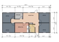 4 Small Offices Floor Plans | Office Building Floor Plans