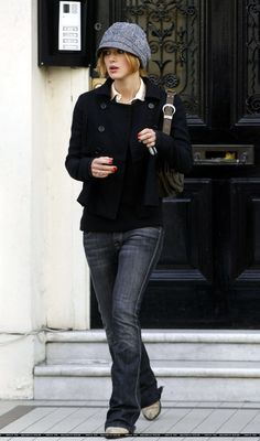 Keira Knightley.  Love this casual look