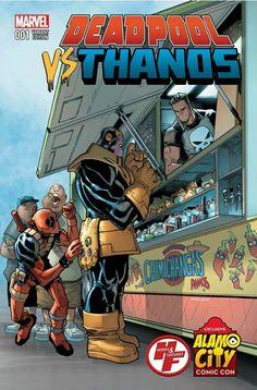 Deadpool Vs Thanos #1 Variant Cover - Alamo City Comic Con Exlusive | Deadpool Bugle