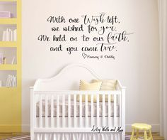 This Baby Roomnursery Vinyl Wall Decal Quote Says With One Wish - Baby room decals