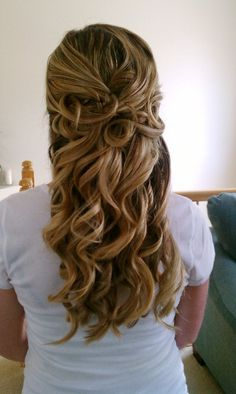 half up and down hairstyles for a wedding - Google Search