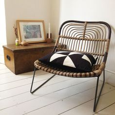 Risultati immagini per house doctor cane chair Interior Design Business, Interior Design Living Room, Bohemian House, House Doctor, Take A Seat, Sofa Chair, Table And Chairs, Interior Inspiration, Outdoor Chairs