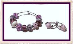Beaded Bracelet Set by JannysStorybeads on Etsy, $40.00