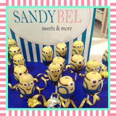 Sweet Minions #cakepops by #sandybel #minions #sweets #nürnberg #fürth