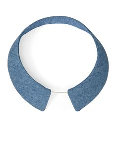 TURINA- COL-1B COLLAR Necklace from denim, reinforced by plastic. 34€ via turinajewellery.com