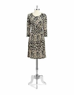 Women's Apparel | Dresses | A-Line Dress with Side Ruched Detail | Lord and Taylor