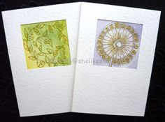 Original handmade cards watercolour abstract art cards blank