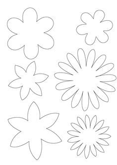 Moldes y Patrones Para Hacer Flores de Fieltro 2