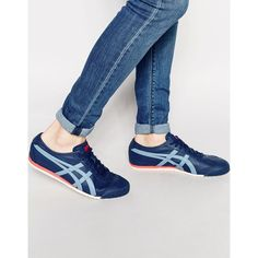 Onitsuka Tiger Mexico 66 Trainers (110 CAD) ❤ liked on Polyvore featuring men's fashion, men's shoes, men's sneakers and blue