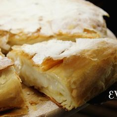 Egyptian pie Fitir with magalyabia cream