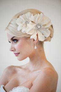 Image of Bridal Flower Head Piece - RHIANNA