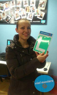 Delia se sacó el carnet de conducir en Autoescuelas Vial Masters. ¡Enhorabuena!