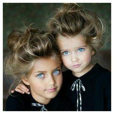 Beautiful Blue eyes sisters.