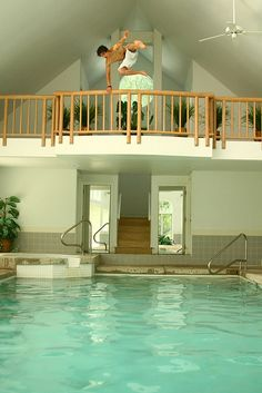 To jump in the pool like this outside my bedroom door would be ideal.... One can dream ha