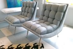 Pair of Hollywood Regency Slipper Chairs
