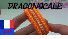 DIY Comment faire un bracelet en élastique.loom bands dragon scale sur…