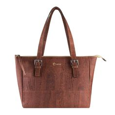 """corkor Satchel Bag  The ultimate spacious satchel bag for women.  The natural feel of cork compliments what ever you put inside whether it is tablets (up to 7""""), smart phones (up to 6"""") or even your laptop (up to 13"""")."""