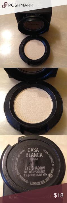 New MAC Eyeshadow Casa Blanca New MAC Eyeshadow in Casa Blanca. Rare Limited and Hard to Find. Please see my other items for more great makeup items from brands like MAC, Stila, Bare Minerals, Laura Mercier. I love reasonable offers and bundles. 😺 MAC Cosmetics Makeup Eyeshadow