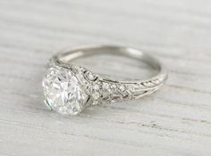 Vintage Engagement Rings and Antique Jewelry from Erstwhile Jewelry Co. Beautiful Engagement Rings, Antique Engagement Rings, Beautiful Rings, Diamond Engagement Rings, Tiffany Engagement, Estate Engagement Ring, Oval Engagement, Solitaire Rings, Solitaire Diamond