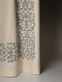 Holland & Sherry Interiors   Embroidered Draperies and Fine Linens
