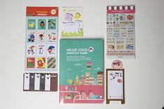 Ardium Hello Coco Monthly Diary , stickers, memo notes bumper pack kawaii cute